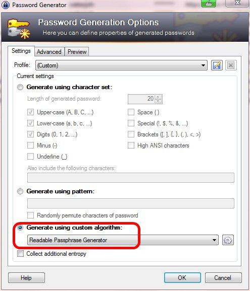 KeePass-ReadablePassphraseGenerator1-CustomAlgorithm