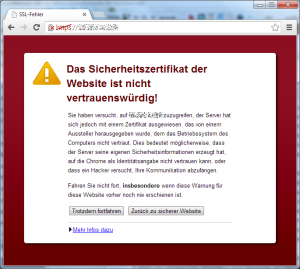 Internet-Sicherheit - Zertifikatswarnung
