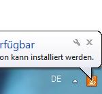 Java-Update 1 Verfügbar Icon Infobereich
