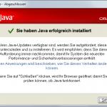 Java-Update 5 Abgeschlossen