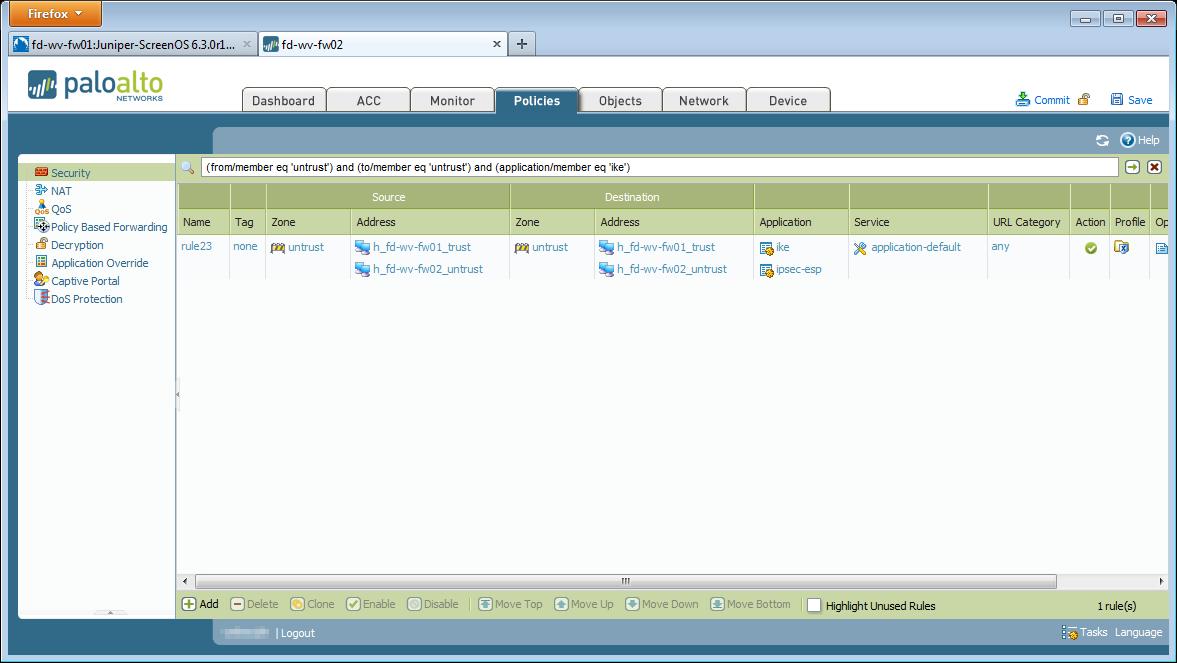 IPsec Site-to-Site VPN Palo Alto Juniper ScreenOS   Blog