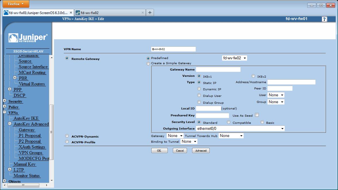 IPsec Site-to-Site VPN Palo Alto Juniper ScreenOS | Blog