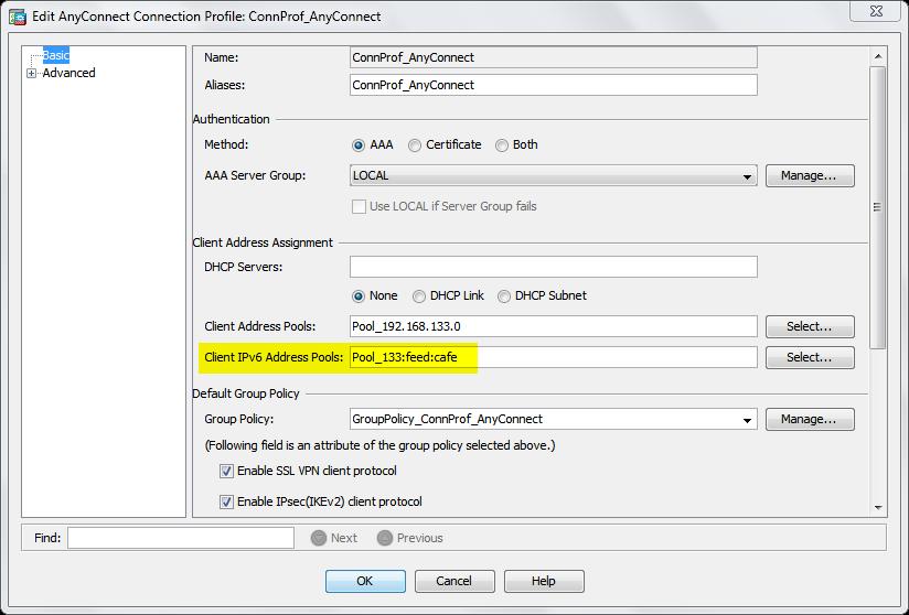 Cisco ASA Connection Profile