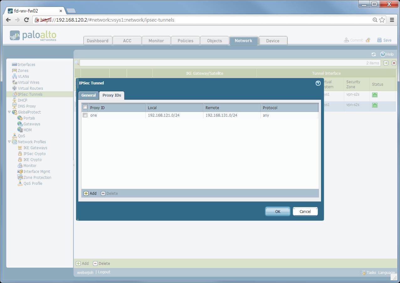 IPsec Site-to-Site VPN Palo Alto Cisco ASA | Blog Webernetz net