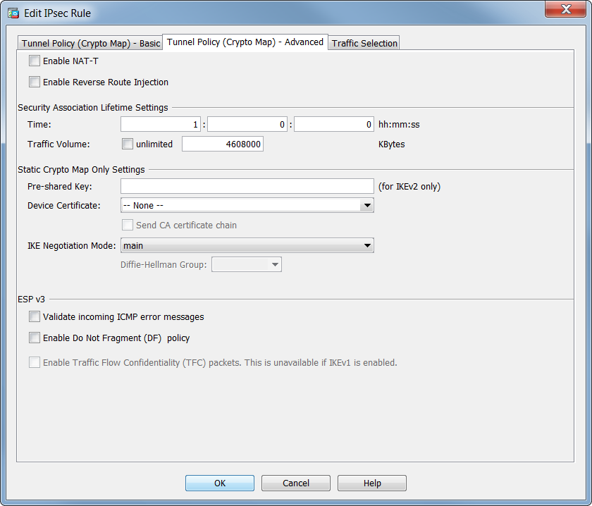 HOW TO: configure site2site VPN between Juniper SRX and Cisco ASA