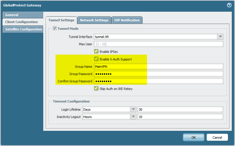 GlobalProtect vpnc - Enable X-Auth