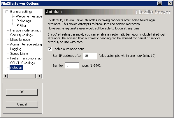 FileZilla Server Autoban