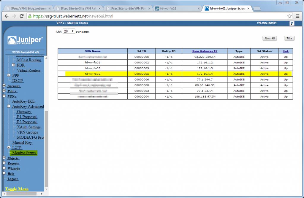 S2S SSG-IOS - SSG 10 Monitor Status