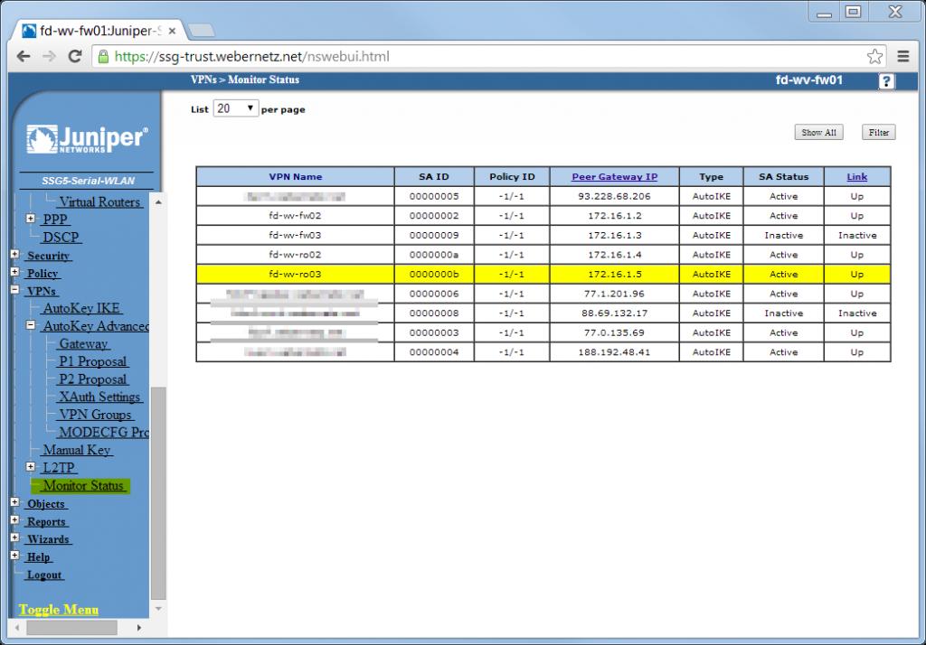 S2S SSG-IOS2 - SSG 09 Monitor Status