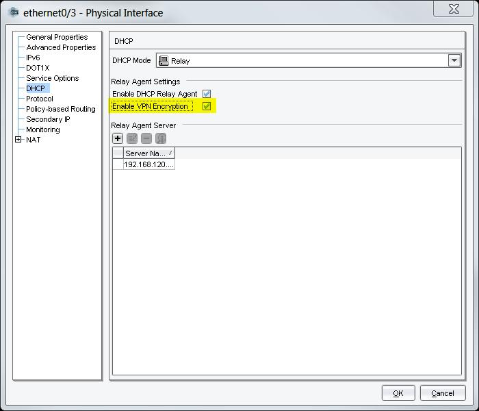 DHCP Relay Juniper SSG checkmark Source IP NSM