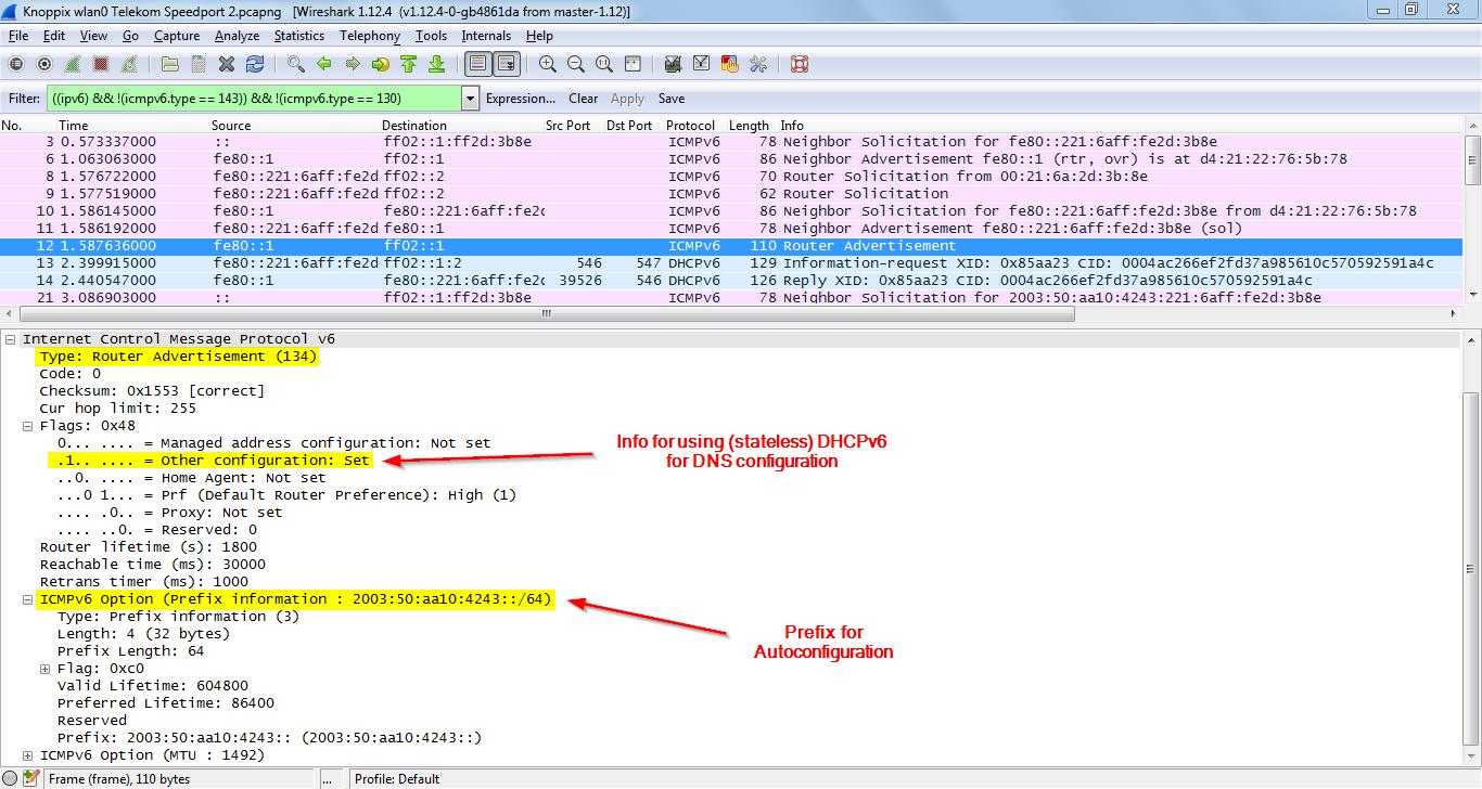 Basic IPv6 Messages: Wireshark Capture | Blog Webernetz net