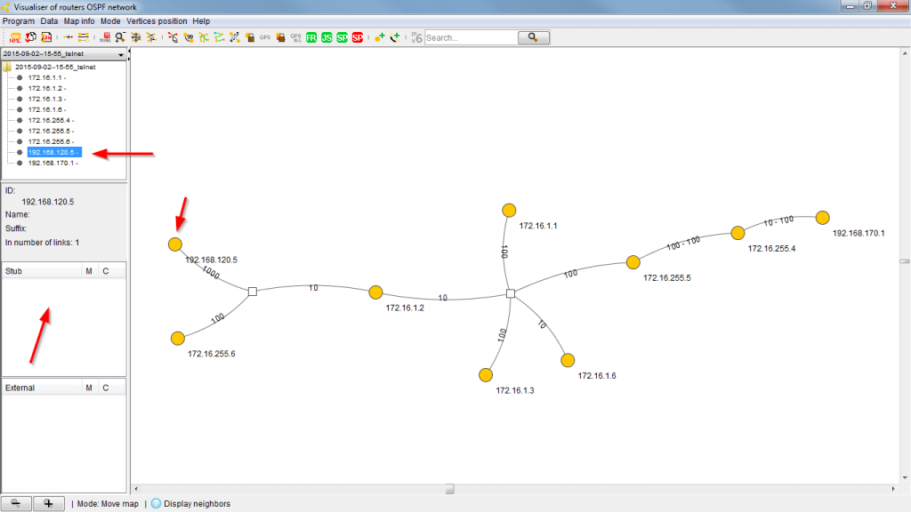 OSPF Visualizer 03 Quagge Router no networks