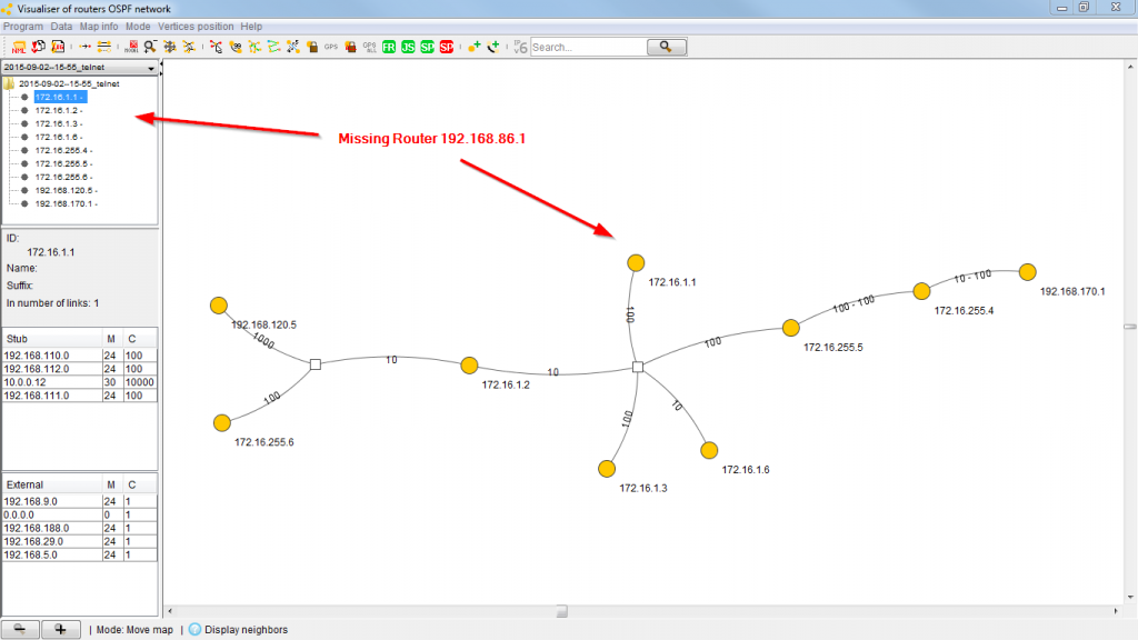 OSPF Visualizer 04 Missing Router 192.168.86.1