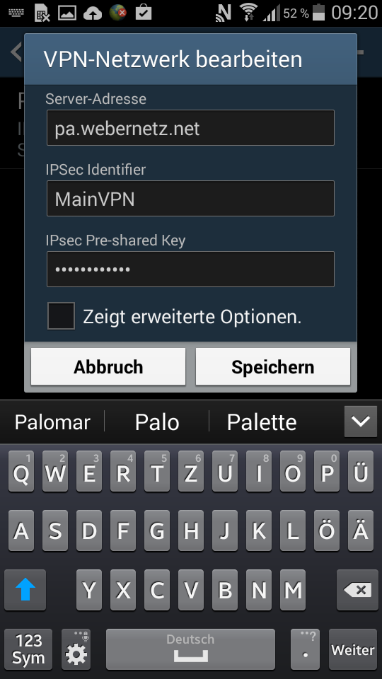 Palo Alto Remote Access VPN for Android   Blog Webernetz net