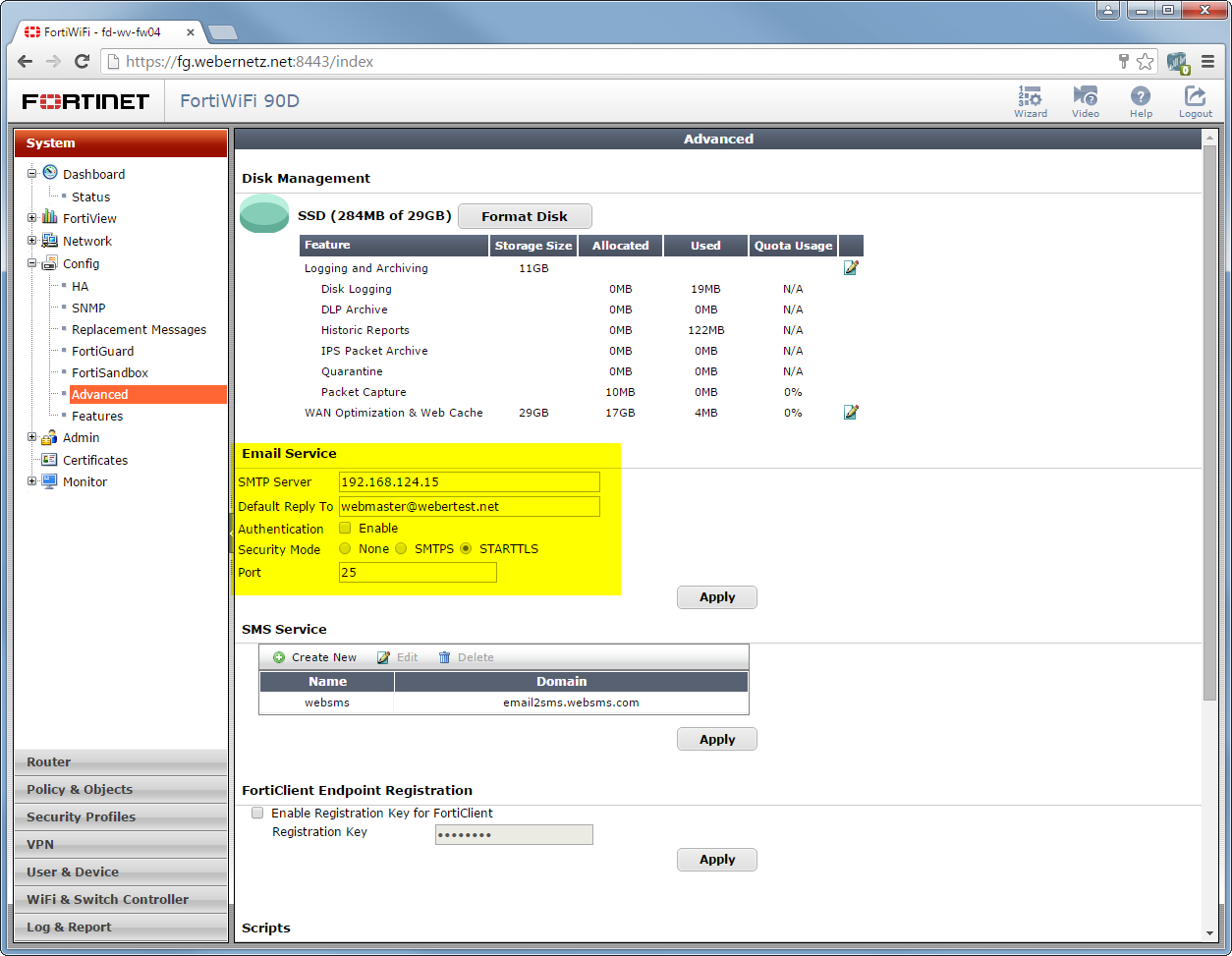 Fortigate 2 Factor Authentication Via Sms Blog Webernetz
