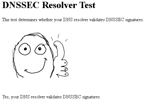 DNSSEC Resolver Test ok