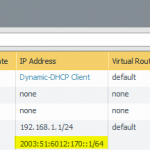 Normal Layer 3 interface with static (!) IPv6 address configuration.