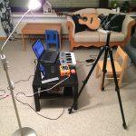 Aufnahmestudio fürs YouTube Video. ;)