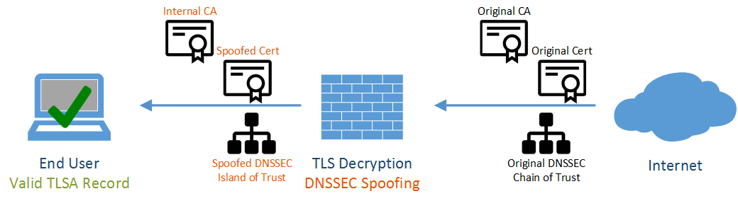 On-the-Fly DANE Spoofing with