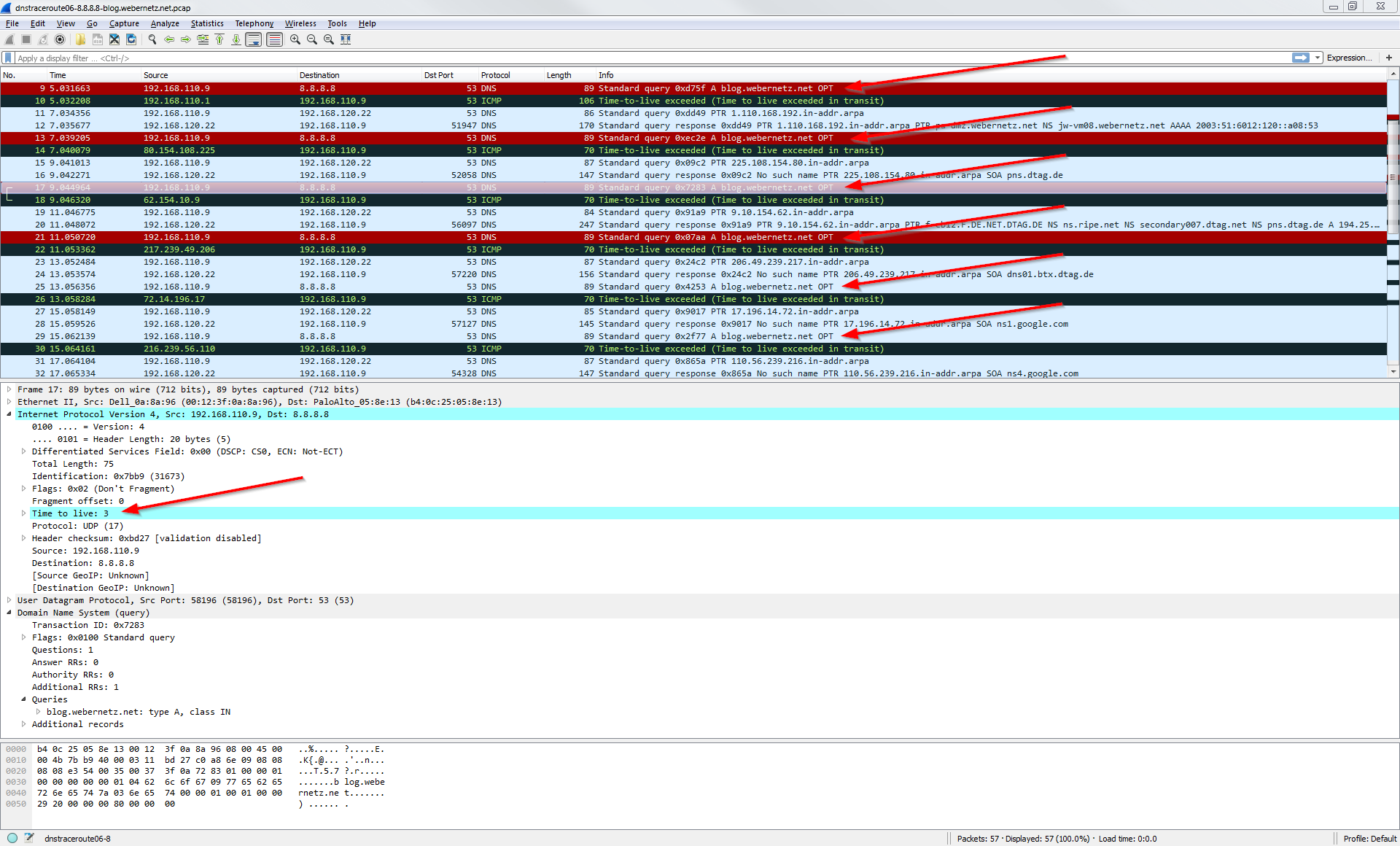 Detect DNS Spoofing: dnstraceroute | Blog Webernetz net