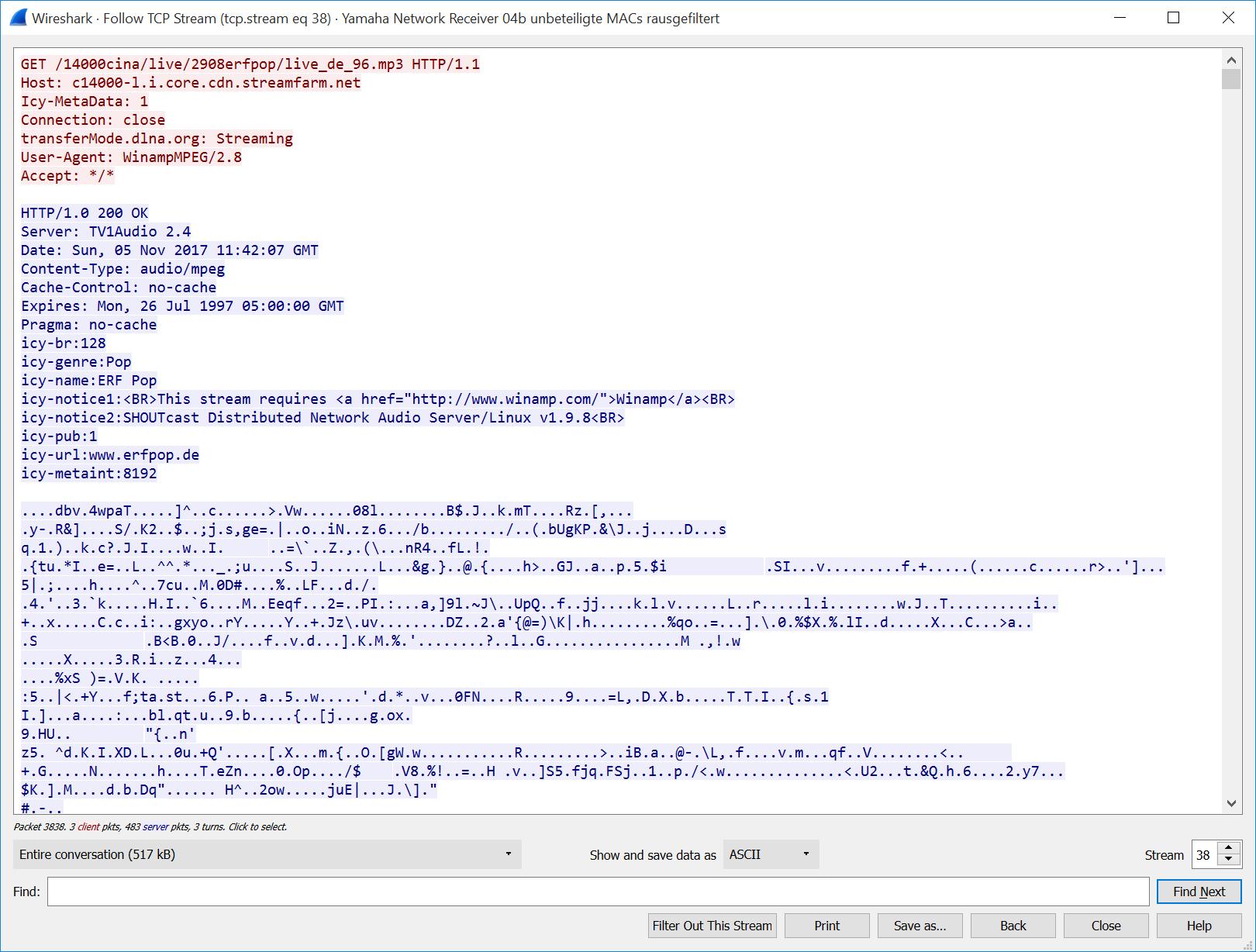 Yamaha R-N500 Network Receiver Packet Capture   Blog