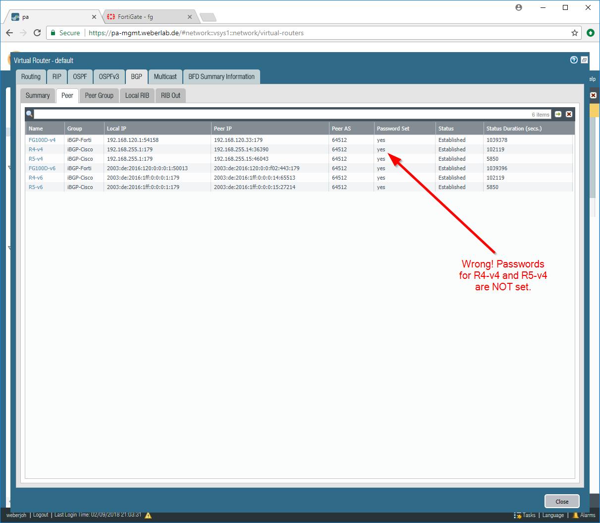 Basic MP-BGP Lab: Cisco Router, Palo Alto, Fortinet | Blog