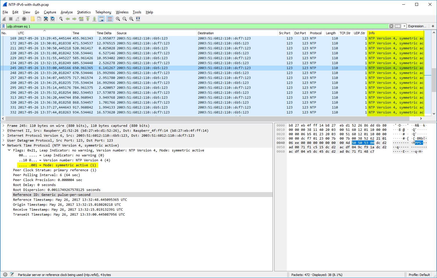 Packet Capture: Network Time Protocol (NTP) | Blog Webernetz net