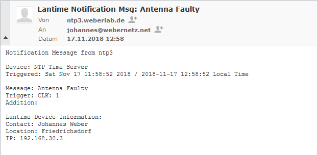 NTP Appliance: Meinberg LANTIME & SyncFire | Blog Webernetz net