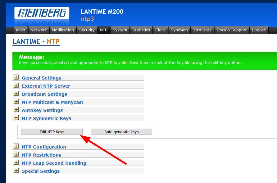 Meinberg LANTIME NTP Authentication   Blog Webernetz net